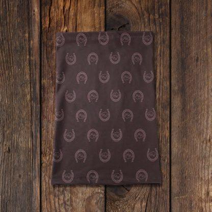 Fleece Neck Gaiter Small Horseshoe Logo