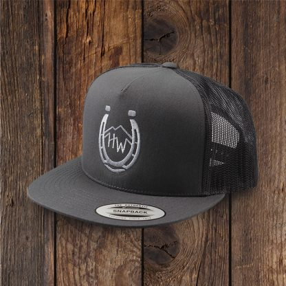 Charcoal Trucker Hat with Horseshoe Logo